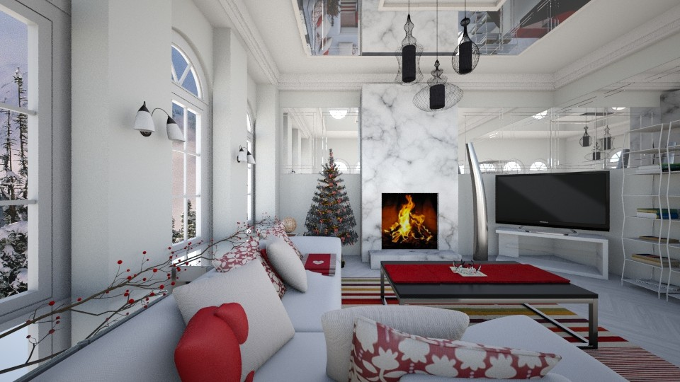 Tinted_LR - Feminine - Living room - by genevivechen
