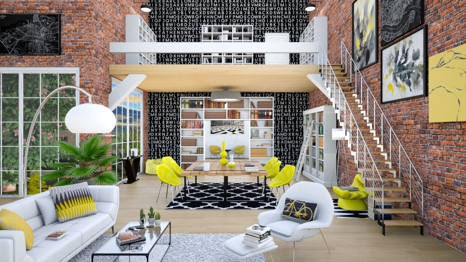book worm - Classic - Living room  - by annator