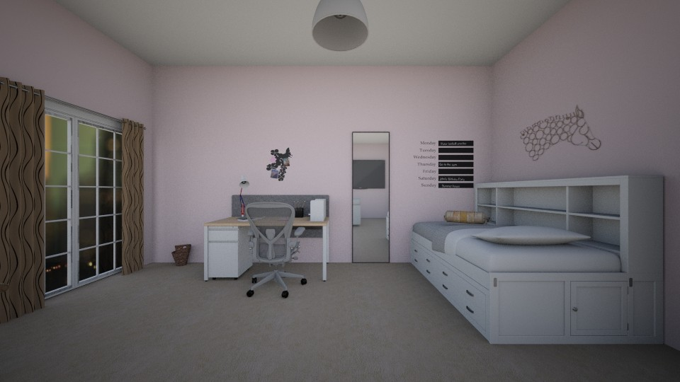 Sweet Dreams - Feminine - Bedroom - by vi00c