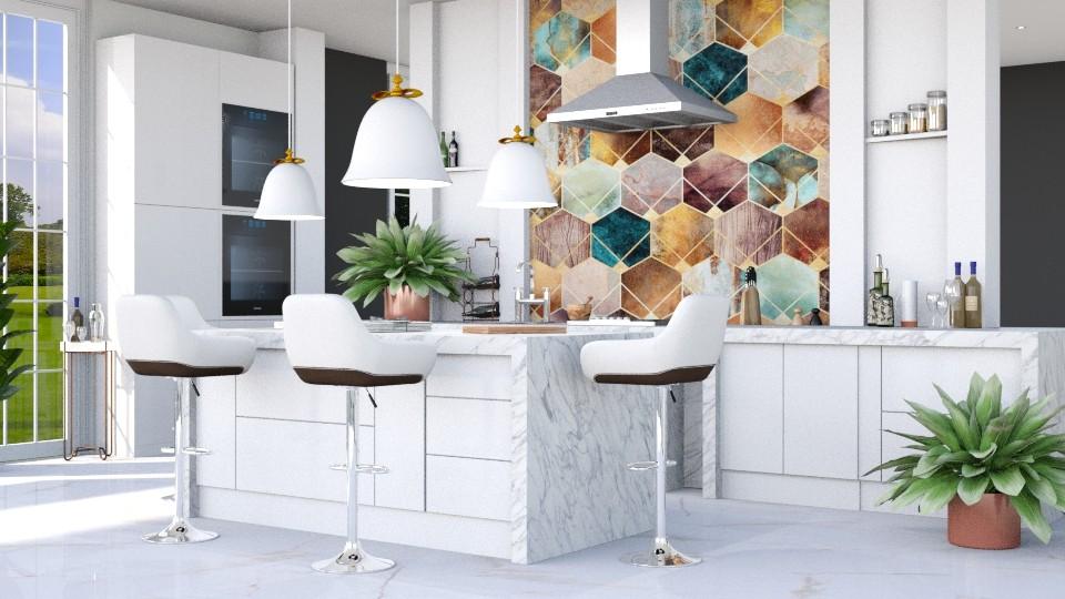 Hexagons - Kitchen - by ArtHousedeco