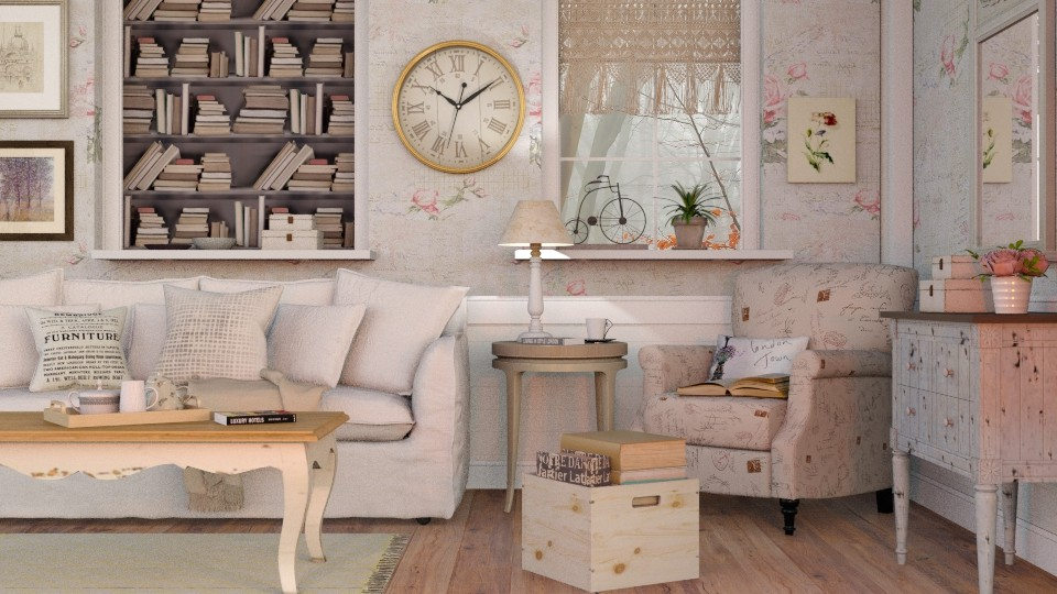 Shabby Chique Livingroom - Vintage - Living room - by Sally Simpson
