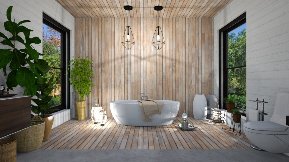 Oasis in Bathroom - Bathroom - by JarkaK