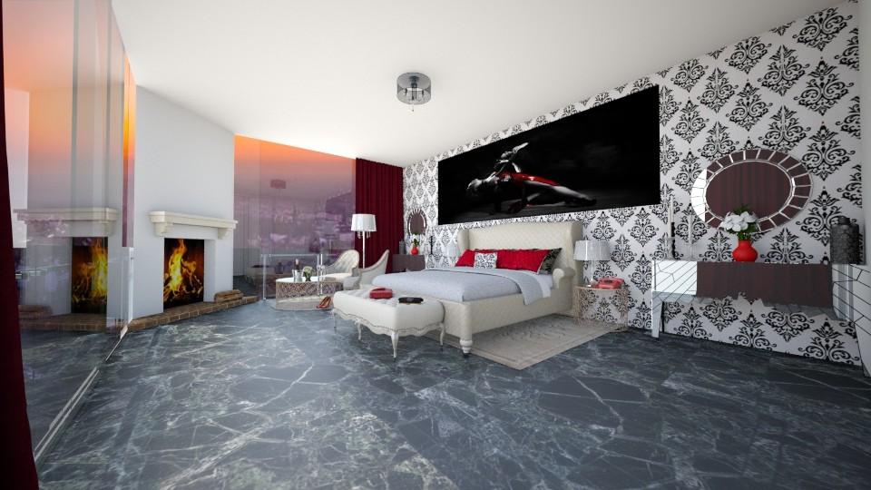 hotel - Bedroom - by seldina