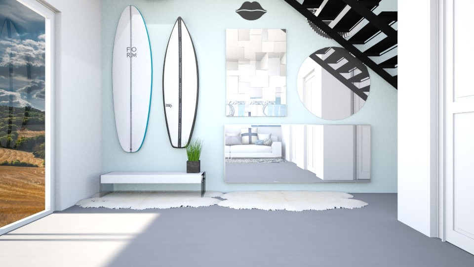 Surf culture living room - by Vanessa Aubrey