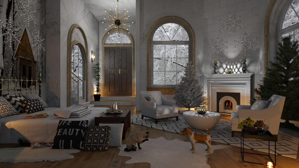 Winter Bedroom Warmth - by lydiaenderlebell