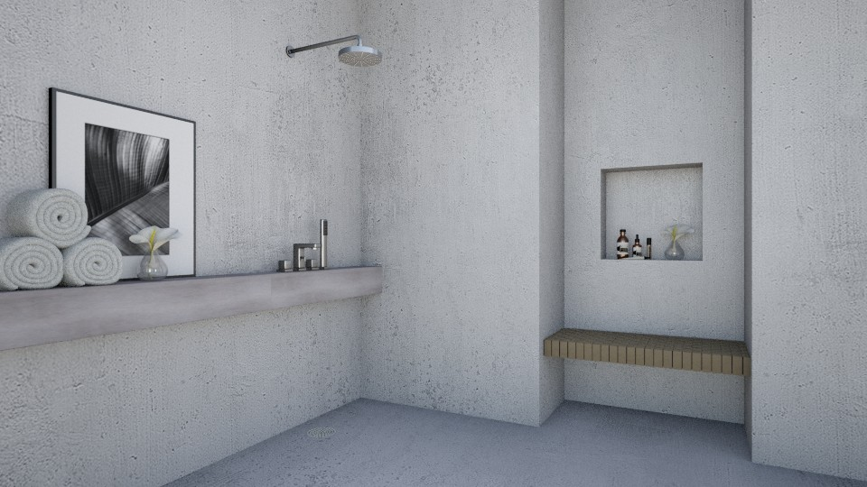 Bare Concrete - Minimal - Bathroom  - by amandafern