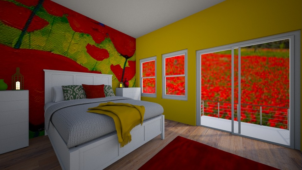 Field of Poppies Bedroom - by house17