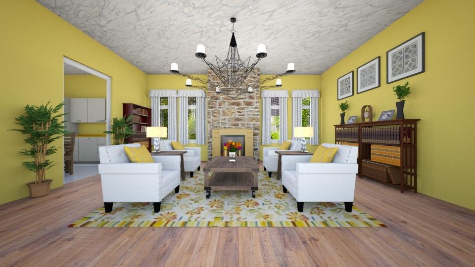 fire - Living room - by JiaJayy