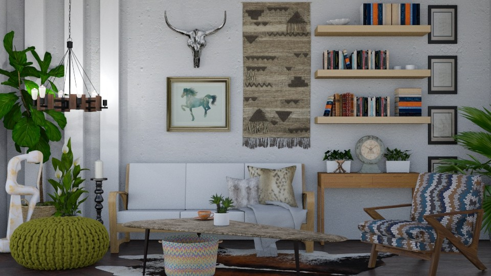modern boho - Living room - by donella