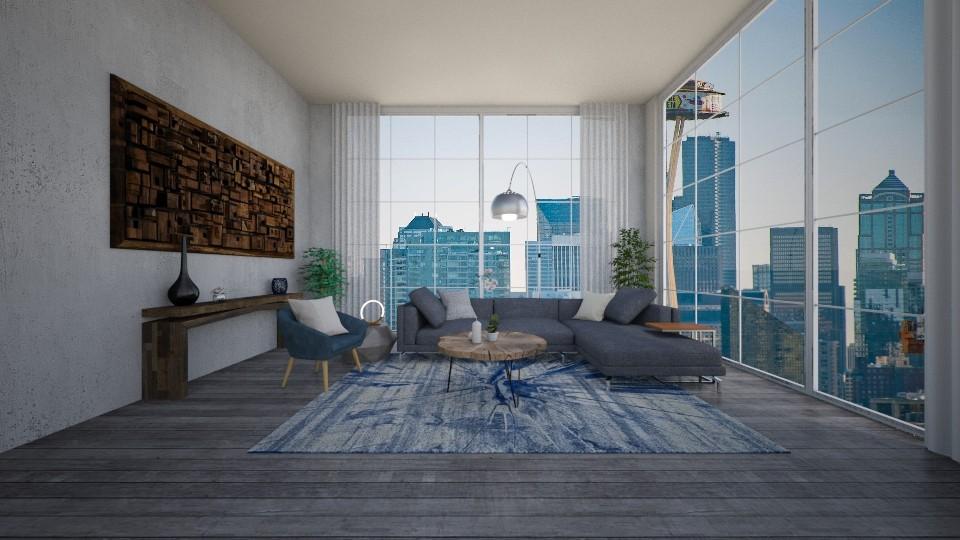 tel aviv apartment  - Living room - by ak designs