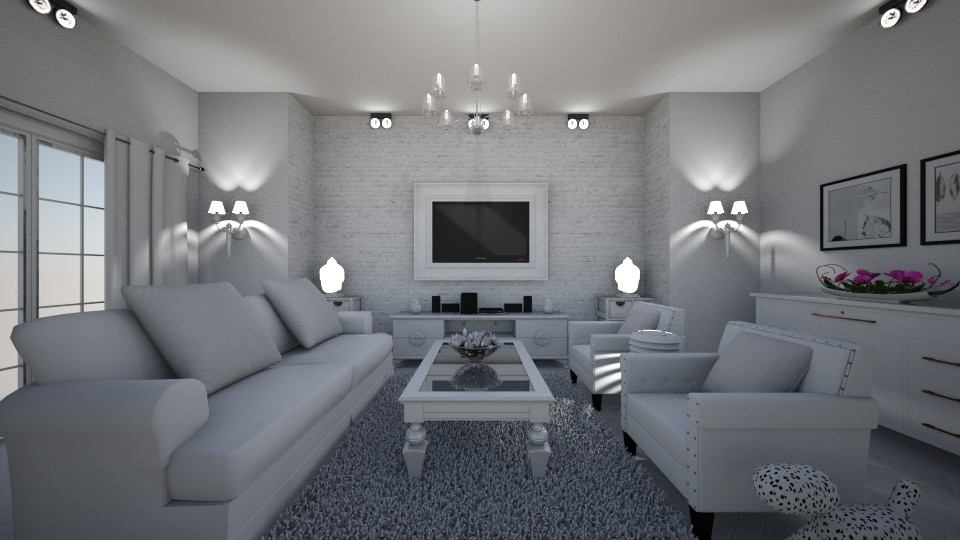 Wohnzimmer glamour white - Classic - Living room - by Flight Claudia