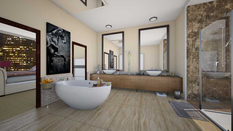 Beige - Bathroom - by nellica