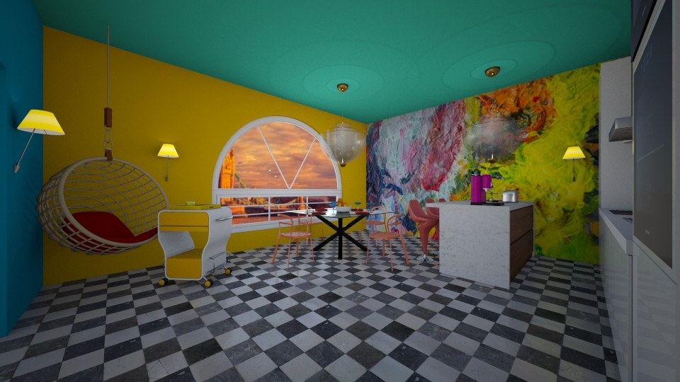 COLORFUL KITCHEN - Kitchen - by nicolaswiggins