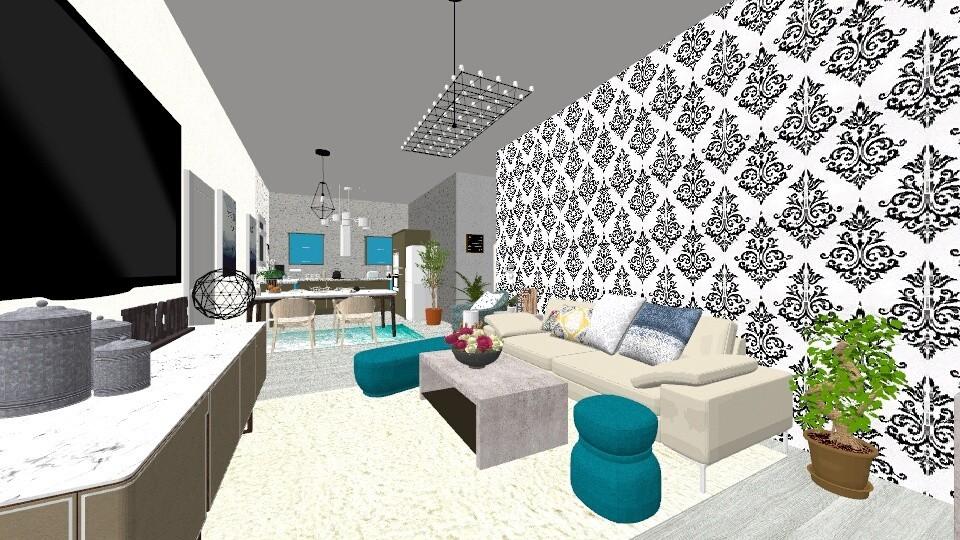 Flat - Modern - Living room - by Kristiyana Stoyanova