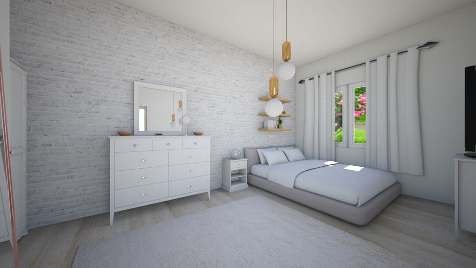 brick walls - Bedroom - by millymoo1