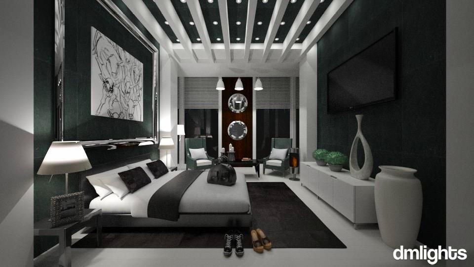 Dark Hotel - Modern - Bedroom - by KRdesign