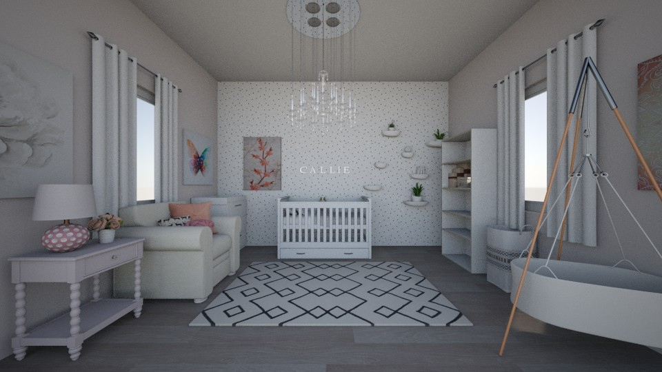 Baby Girl Nursery - Modern - Kids room - by cbruno23