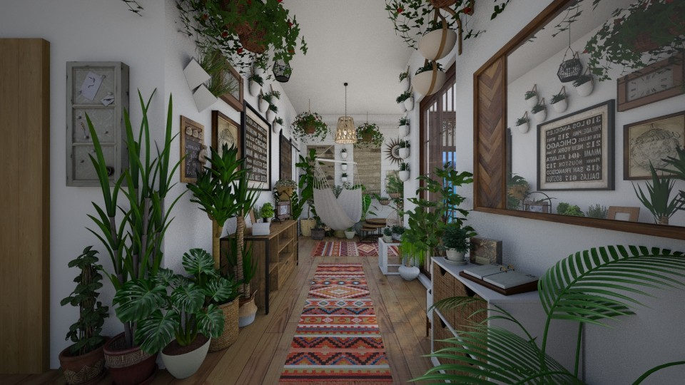 Urban Jungle Hallway - Rustic - by lealaurenbagari
