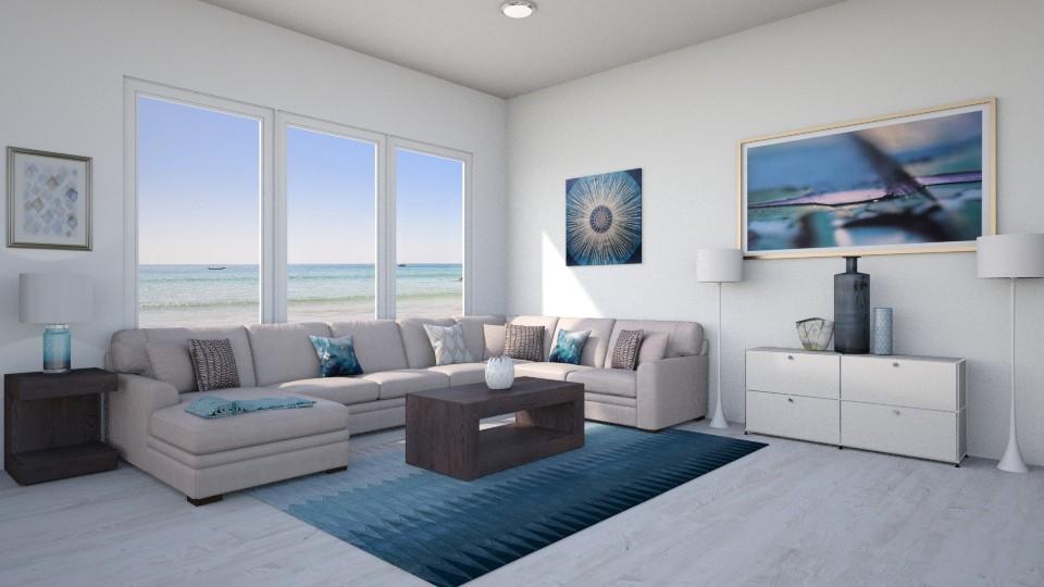 Blue Beach Vibes - Living room - by lotsofglory