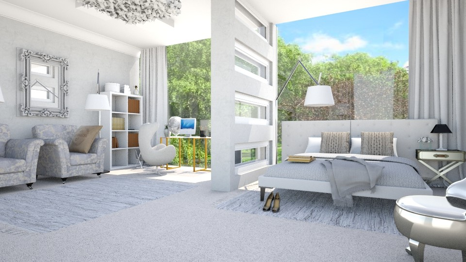 shiny day - Bedroom - by gvidiani_nina