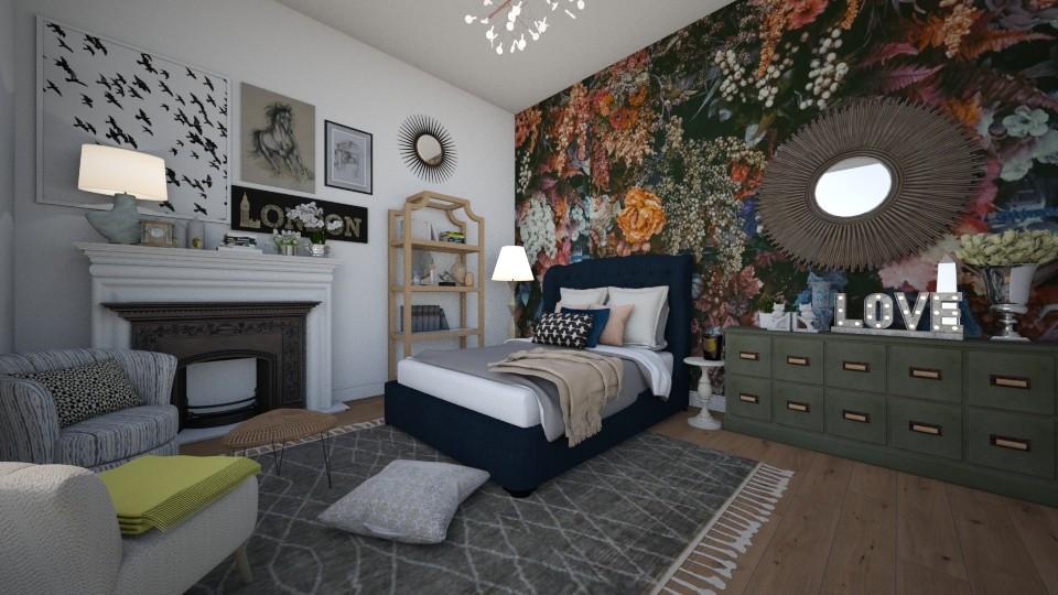 maximalist bedroom - Bedroom - by td123