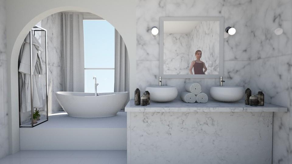 Marble Bathroom - Bathroom - by kelseyleigh3