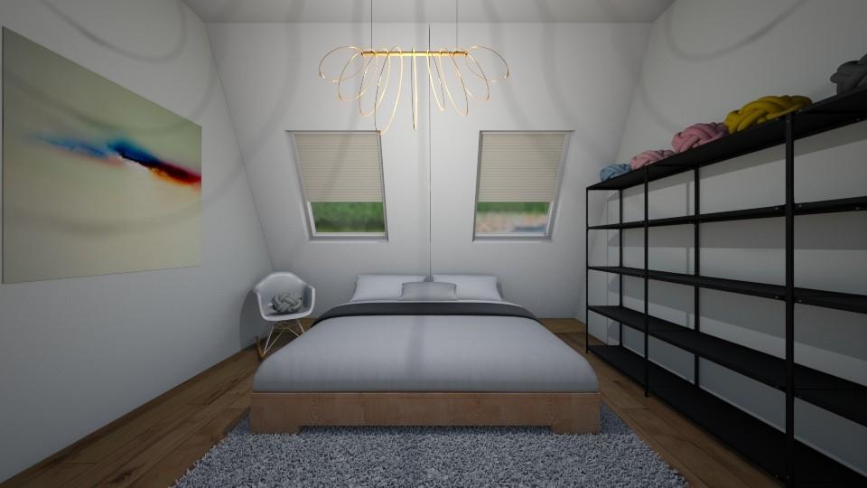 attic bedroom - Bedroom - by belly bel bel