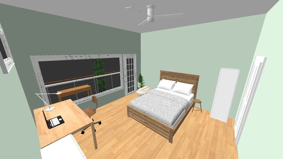 My Dream Room Daytime - Minimal - Bedroom - by Ameera Peachy Mint