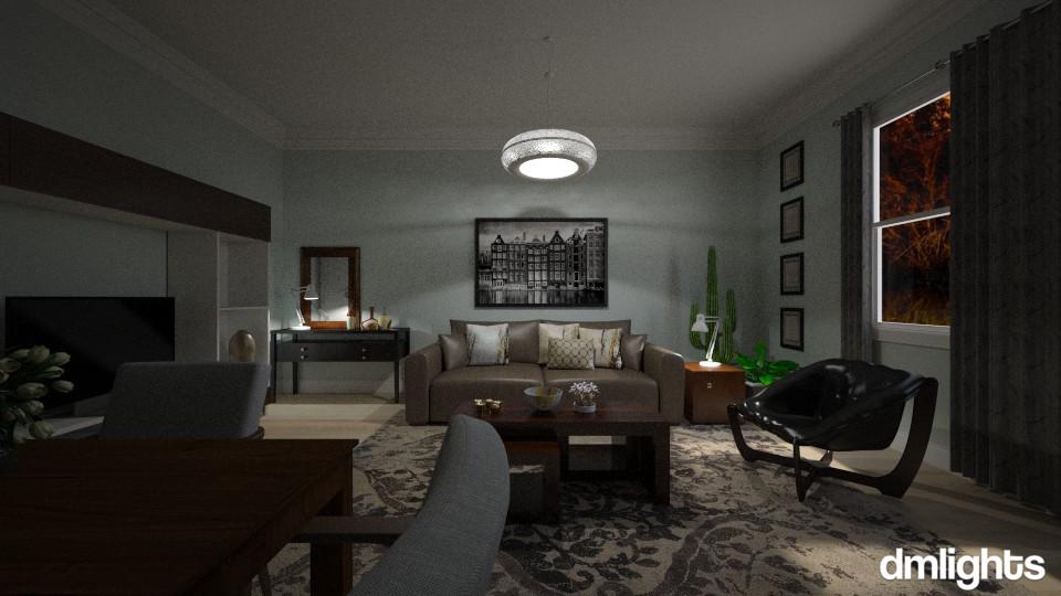 Dark Wood - Living room - by DMLights-user-982019