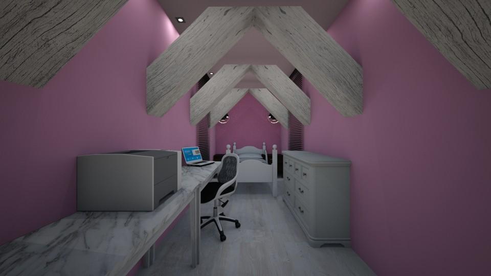 Attic Pink - Bedroom - by jaiden2006