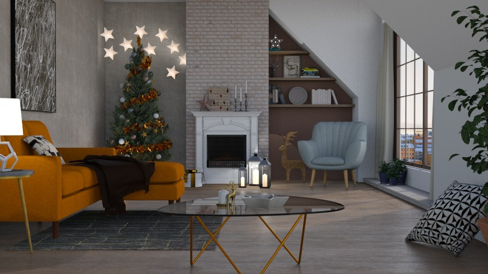 Christmas Stars - Living room - by Mandine