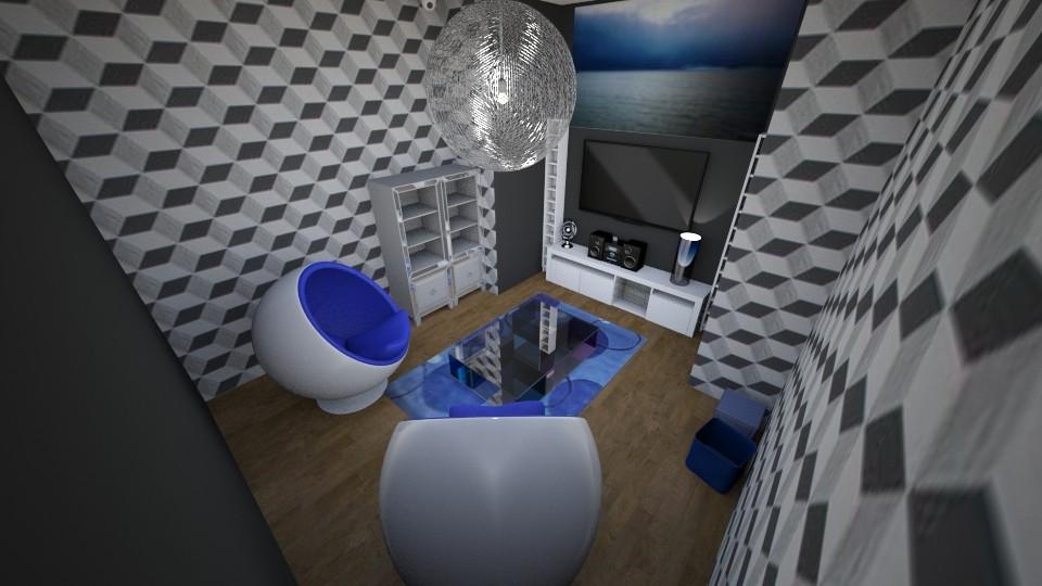 the gaming blue room - Modern - by Mackenzie Kem