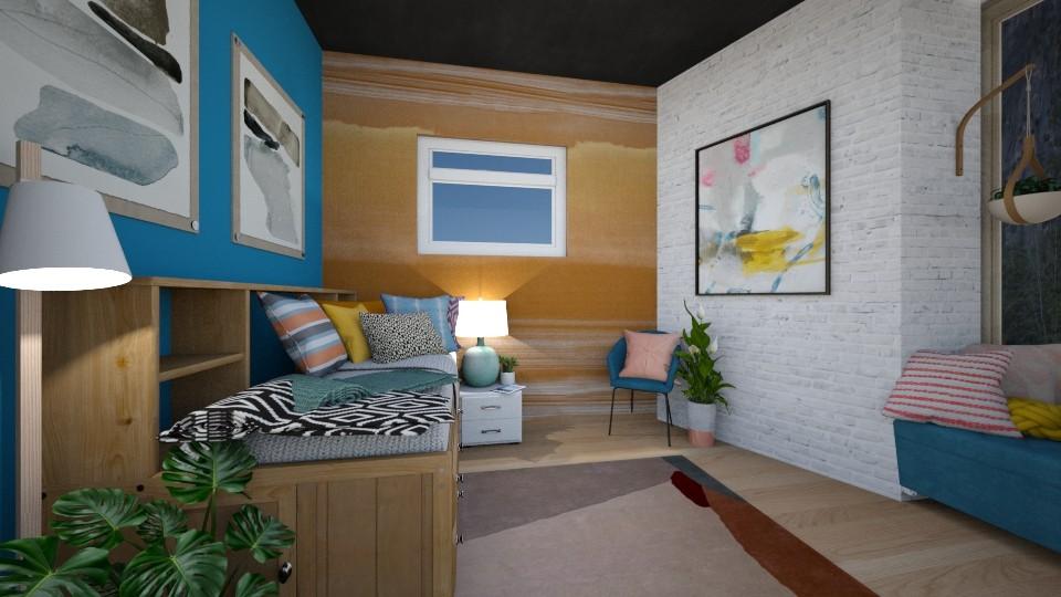 College Dorm Room - Minimal - Bedroom - by t harv