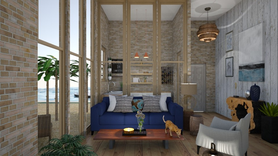 blue wild - Living room - by alina2222