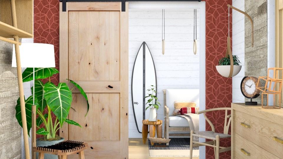 Surfboard Hallway - Living room - by eliseatlife