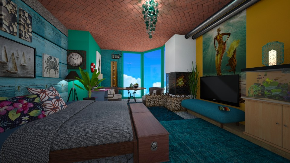 Marnie_bedroom - Bedroom - by PAPIdesigns