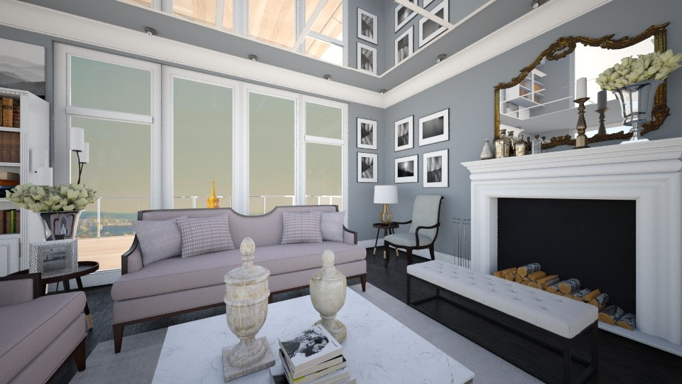 Bonjour Paris style - Living room - by Nikola Simic
