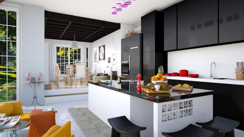 The K - Modern - Kitchen - by Seii Saii