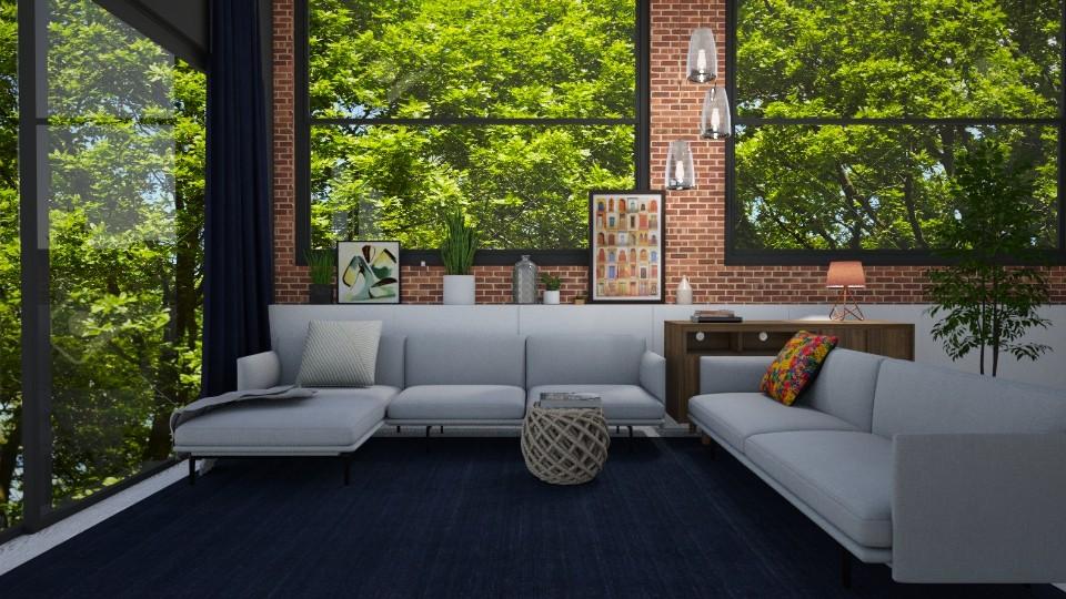 brick wall  - Living room - by mashusirjak