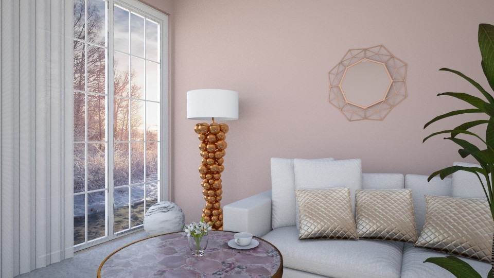 Winter blush - Living room - by agapka