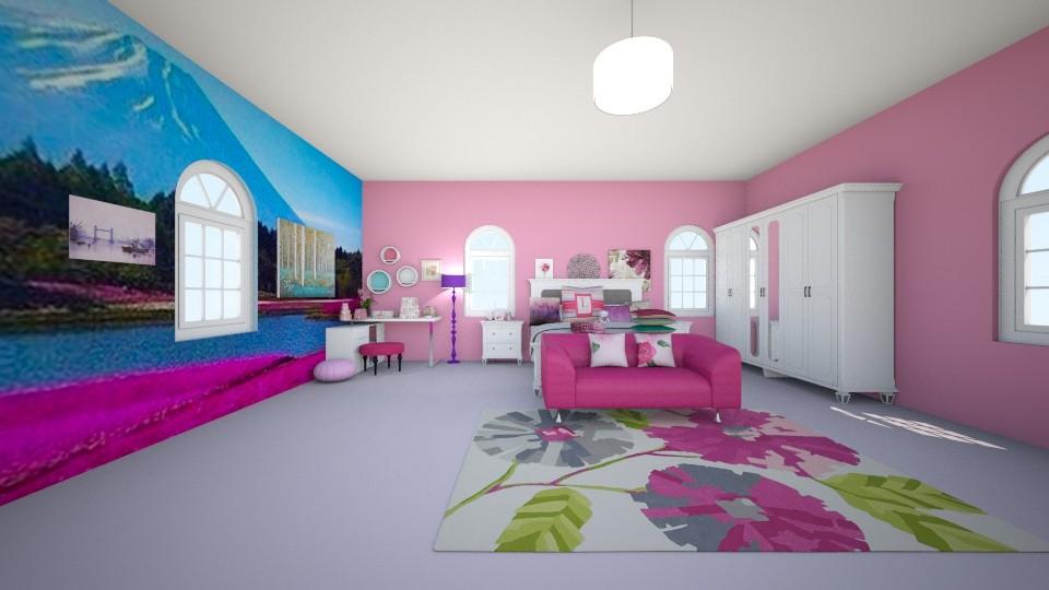 pink - Bedroom - by Deni star