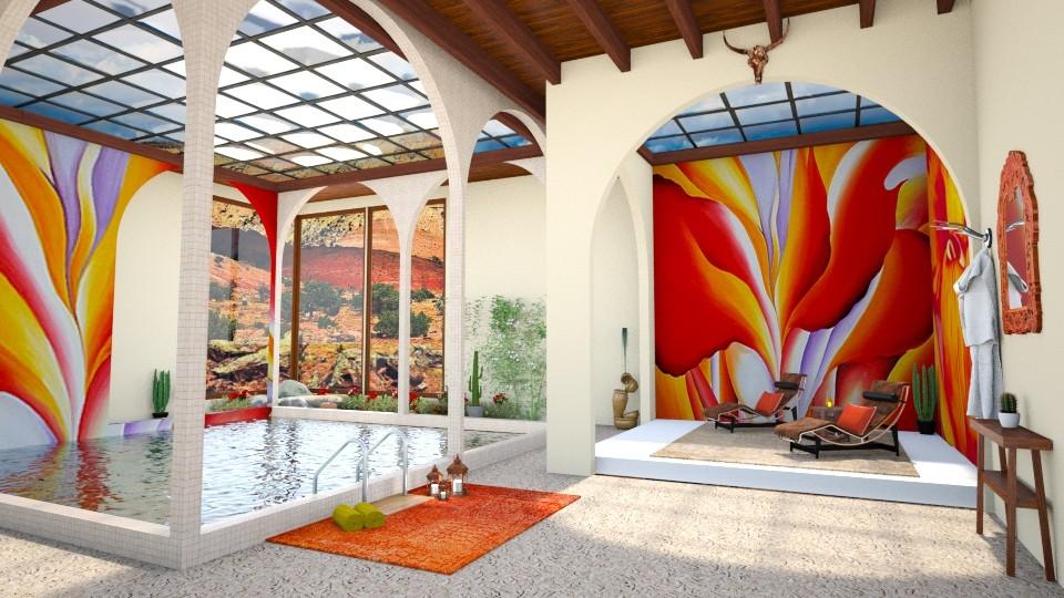 OKeeffe Inspired Pool  - by ginamelia22