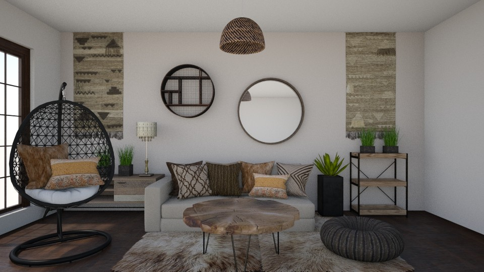 Touch of Boho - Living room  - by Vae Riley