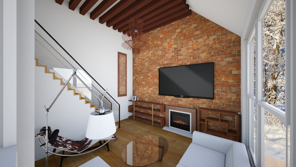 winter house - Living room - by vxszxyz