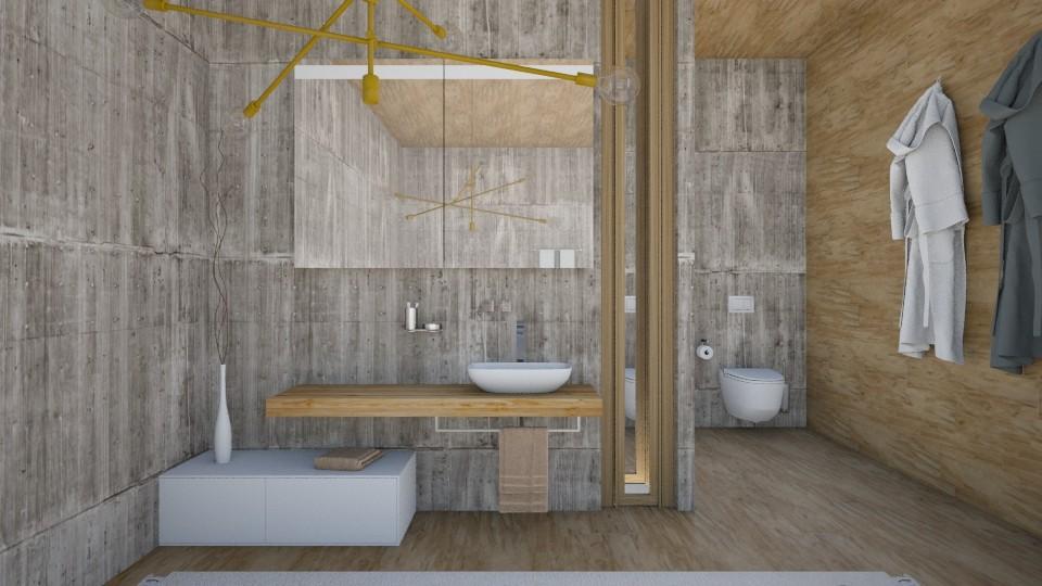 bath wood - Bathroom - by Kalinowska