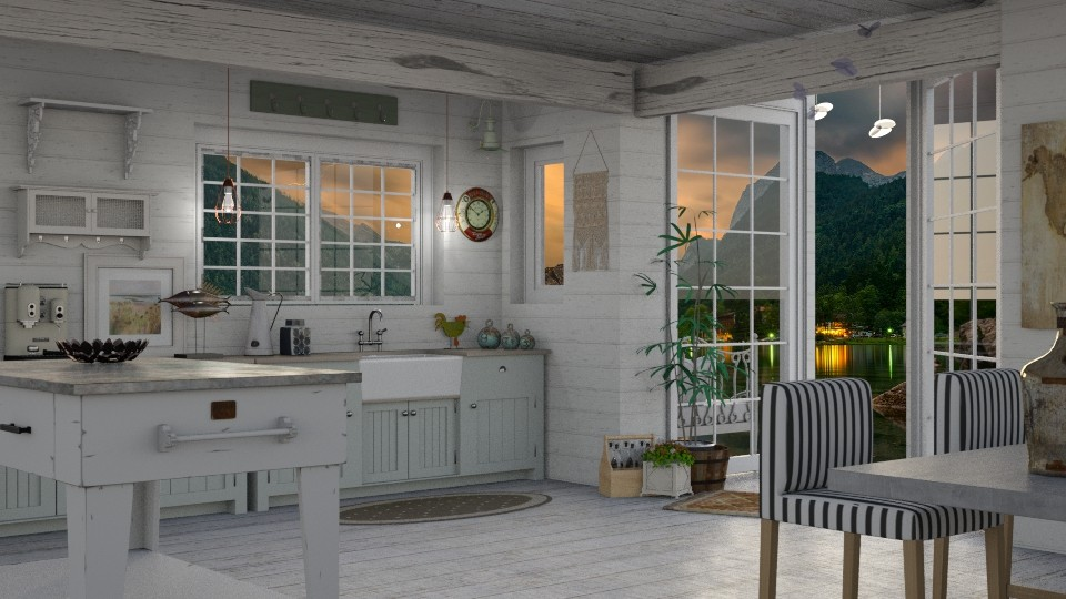 Cottage By The Bay - Rustic - Kitchen - by LuzMa HL