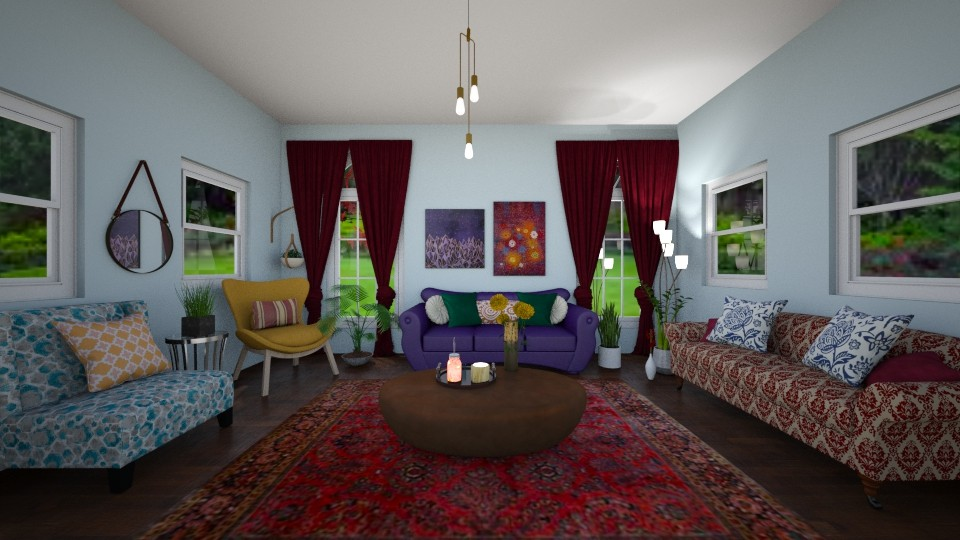 Bohemian Living Room - Country - Living room  - by imgoodatusernames