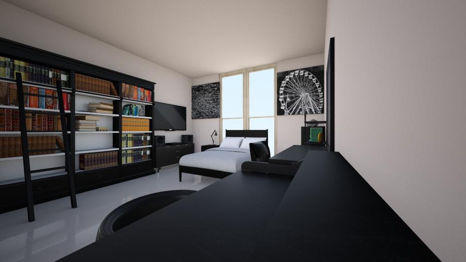 Black - Modern - Bedroom - by Zaphire