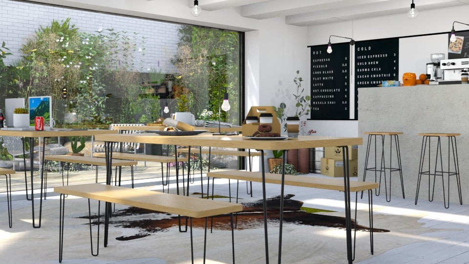 coffee shop with outside  - by bnu