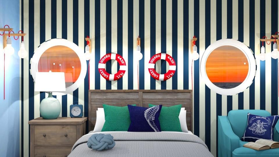 Nautical Bedroom Redesign - Bedroom - by Ellie665